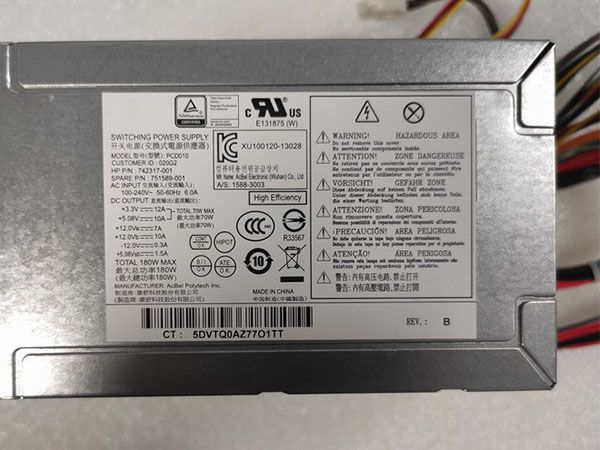 HP Pavilion 500 110 24-Pin ATX PSU 742317-001 751589-001