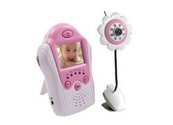 2.4GHz Wireless Camera,LCD Baby Monitor, Voice Control
