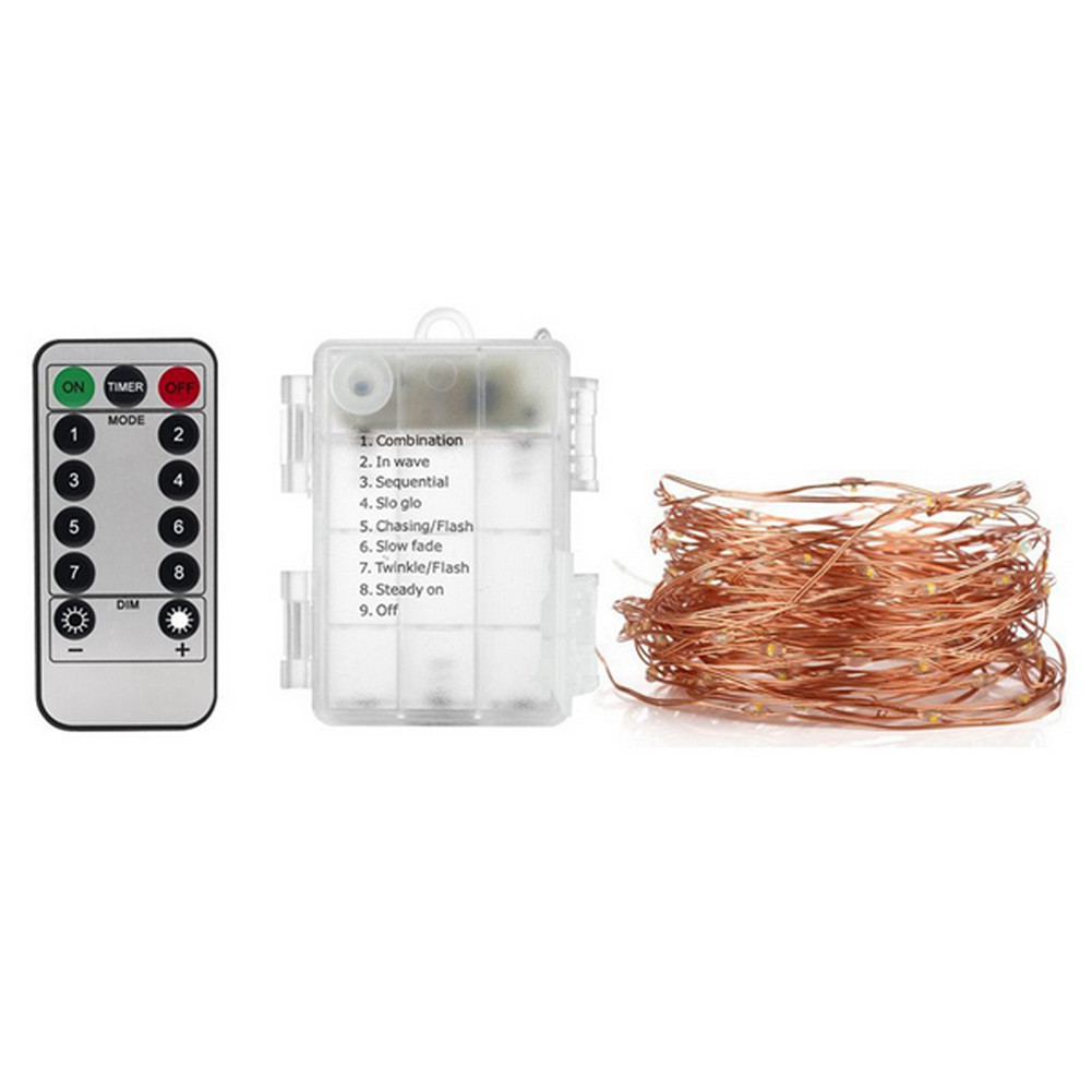 2Pack 50LED Fairy Lights String Lights Battery Operated with