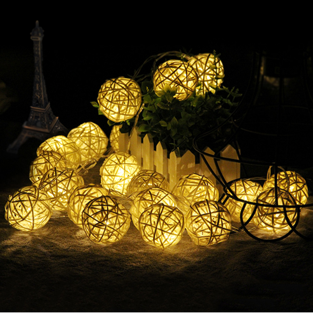 2M Rattan Ball 20LED String Light Fairy Light For Holiday Ch