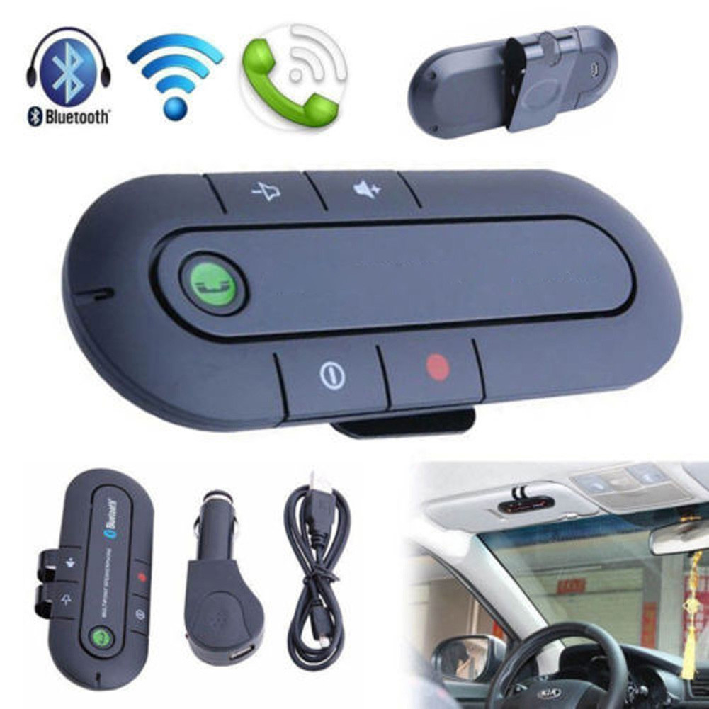 Wireless Bluetooth Hands Free Speaker Car Kit With Clip