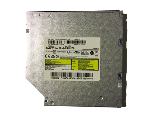 Toshiba Sumsung SU-208 Black NEW 9.5mm 8X DVD Burner SATA Op