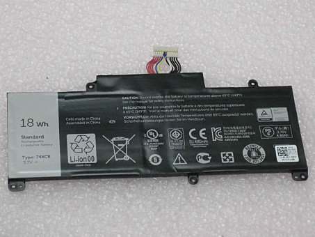 74XCR Battery Replacement Dell 74XCR Tablet PC Batteries 3 7V 18WH
