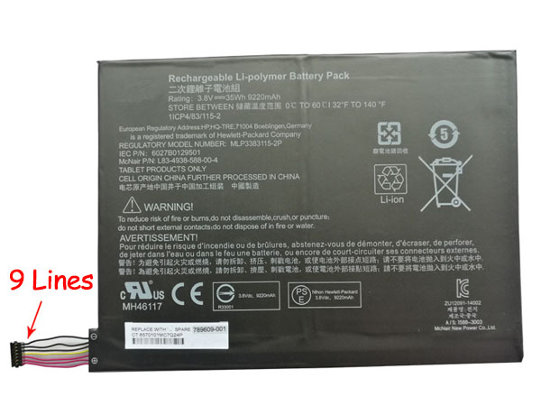 (9 lines interface)HP Pavilion X2 10-K010NR MH46117 MLP33831