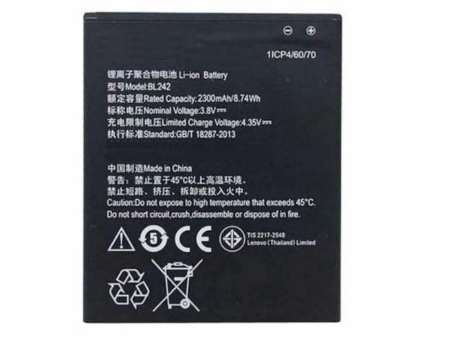 wholesale dealer 60fad 2c338 BL242 Battery Replacement LENOVO BL242 Cell Phone Batteries 4.35V ...