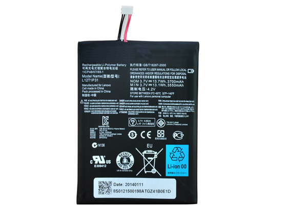 Lenovo L12T1P3 Tablet PC Batteries for LENOVO IDEATAB A2107 A2207