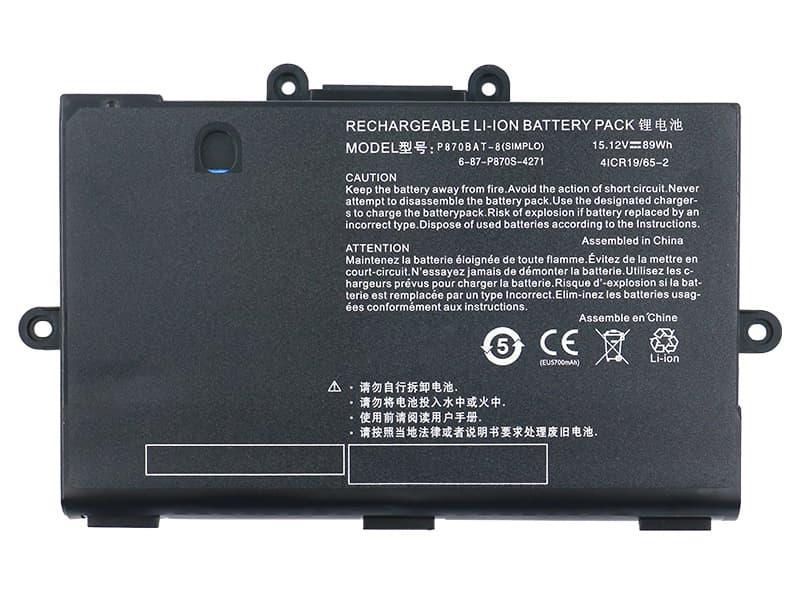 Clevo P870BAT-8 battery