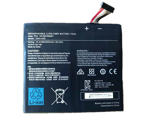 Getac GAG-K40 battery